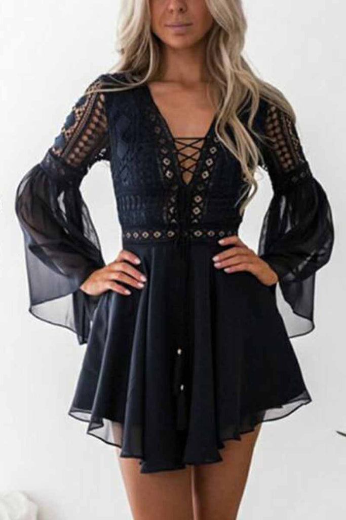Florcoo Lace Mini Dress (2 Colors )
