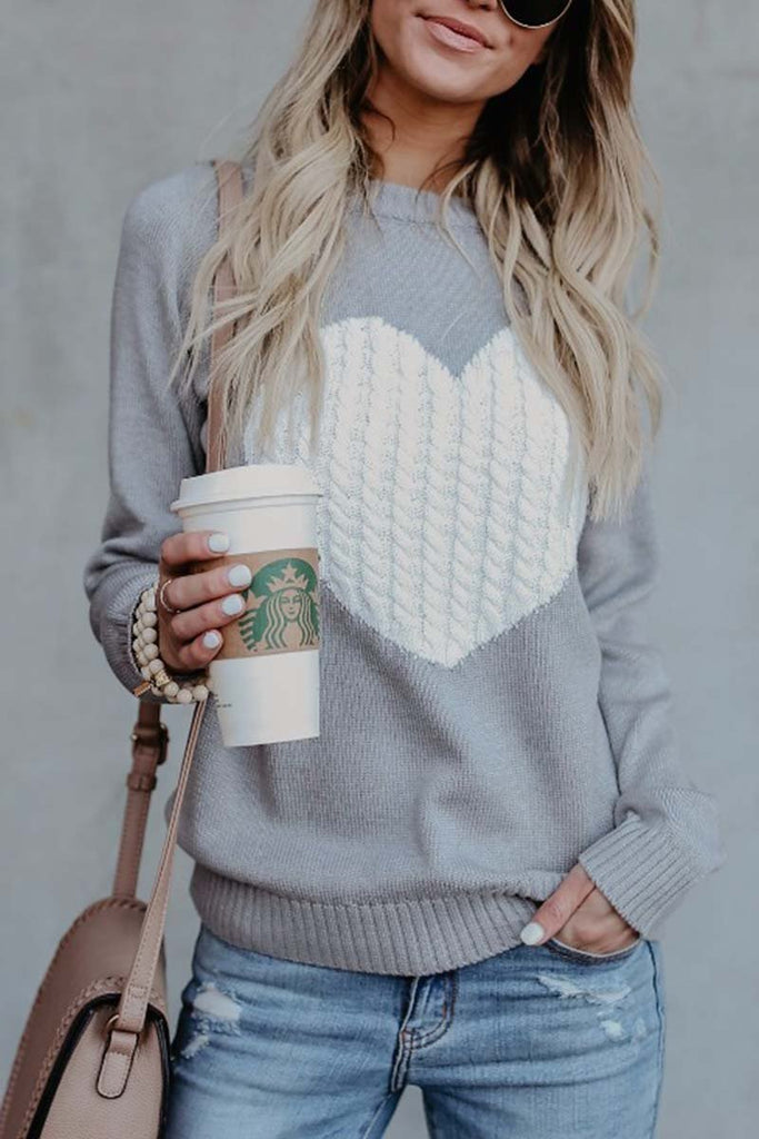 Florcoo Heart Shaped Sweater 2 Colors