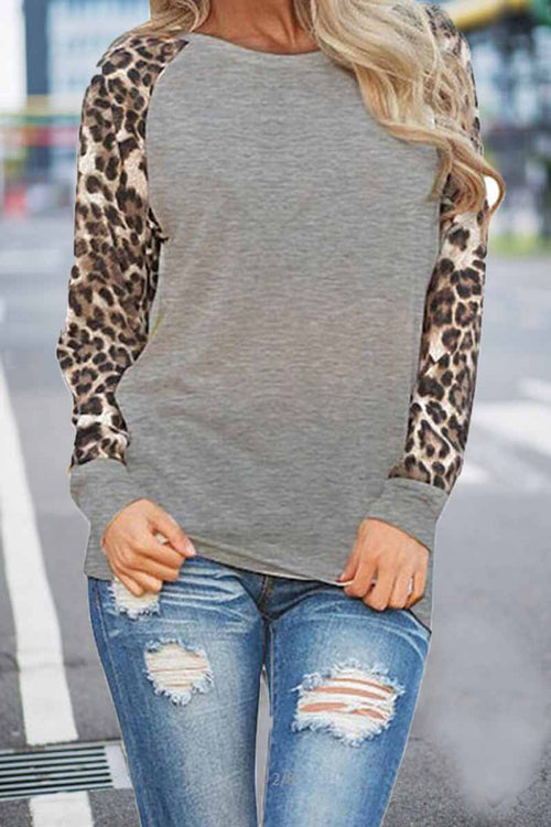 Florcoo Leopard Print Long sleeve Top(Extra Offer)