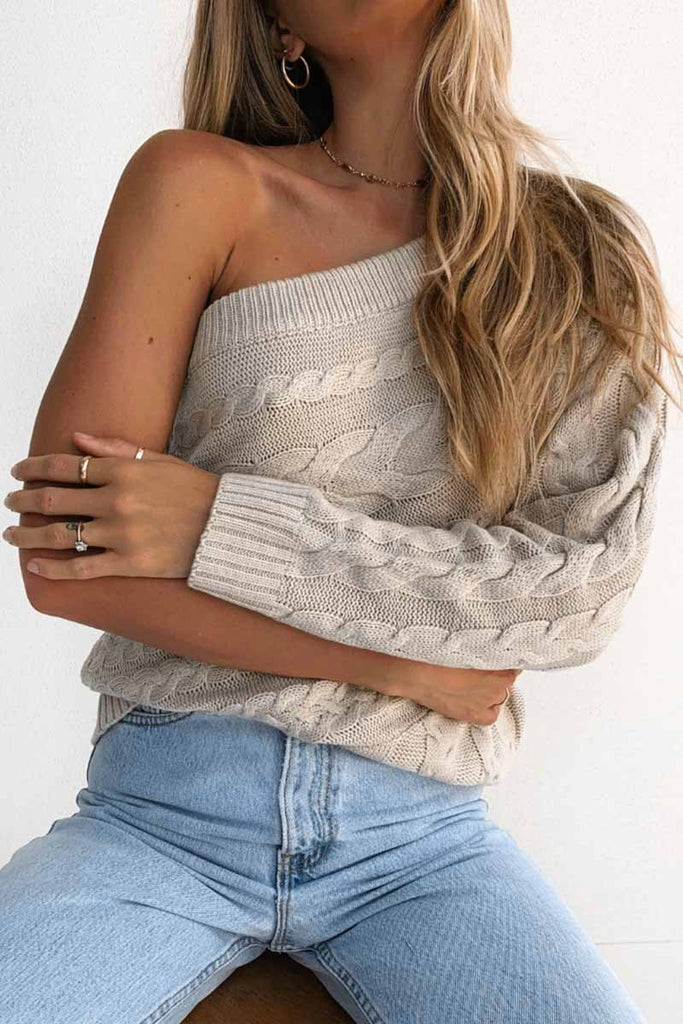 Florcoo One Shoulder Sexy Long Sleeve Tops