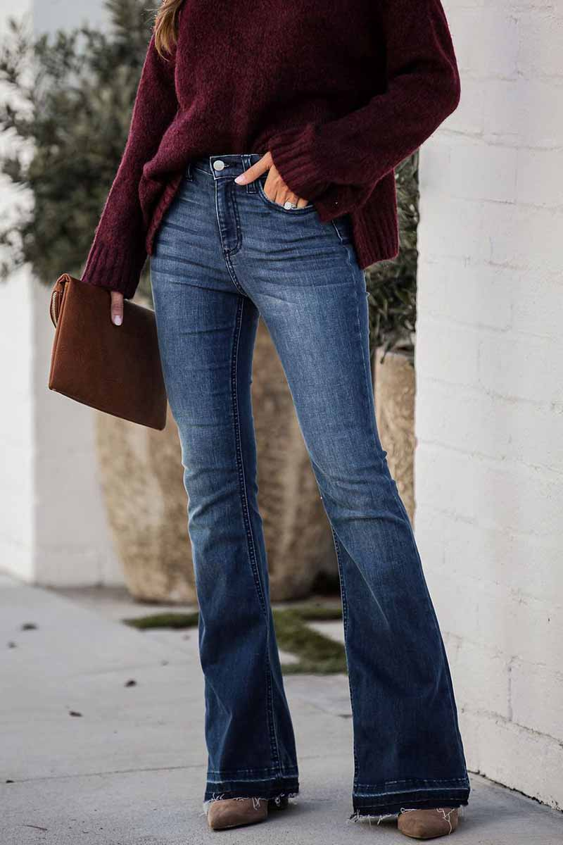 Florcoo Slim Denim Flared Jeans
