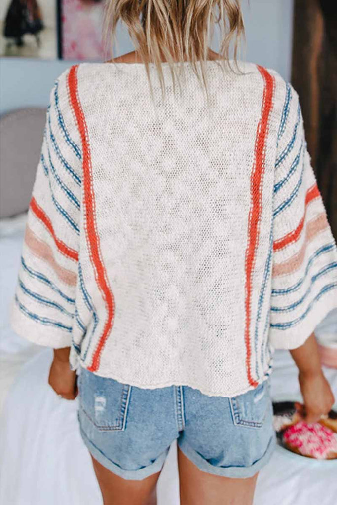 Florcoo Striped Colorblock Sweater