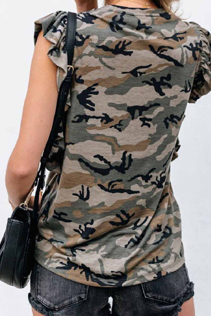 Florcoo Summer Loose Thin Leopard Short Sleeves