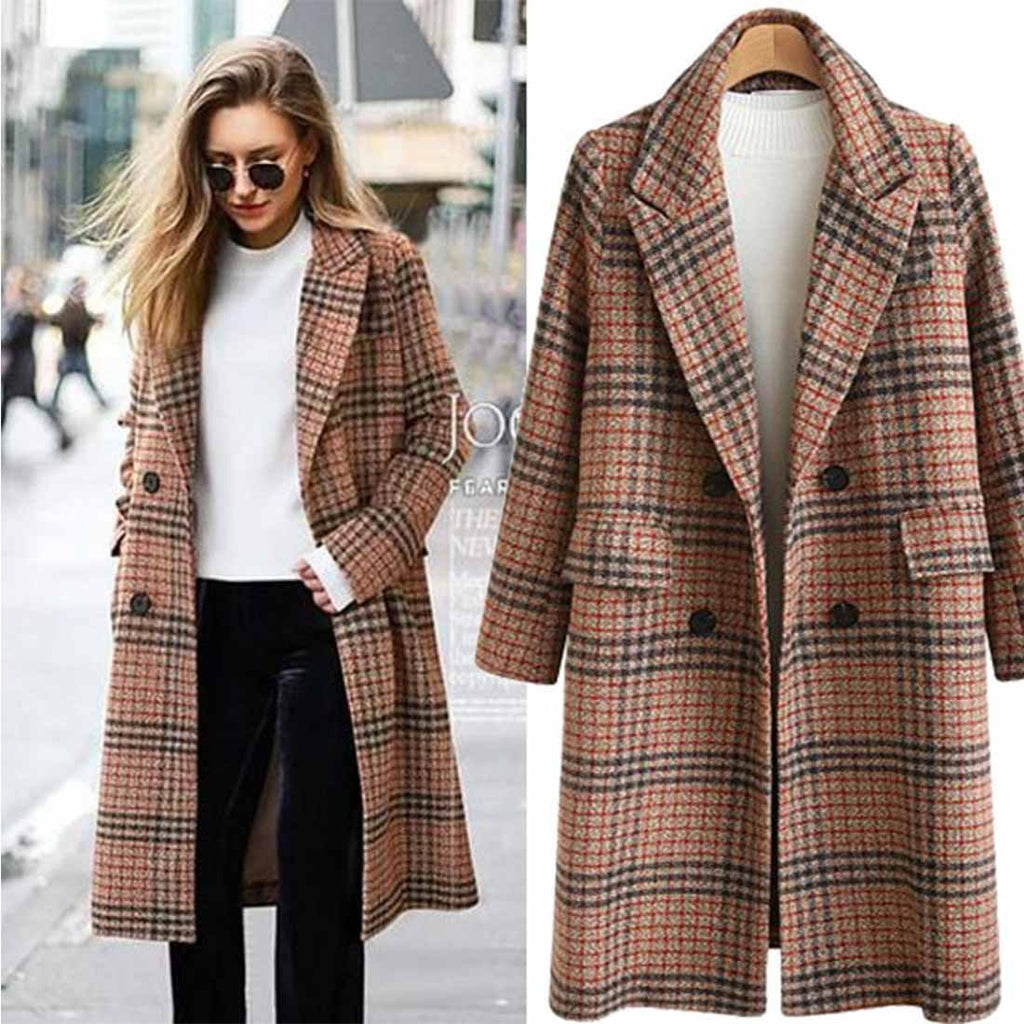 Florcoo Women's Cardigan Lapel Coat