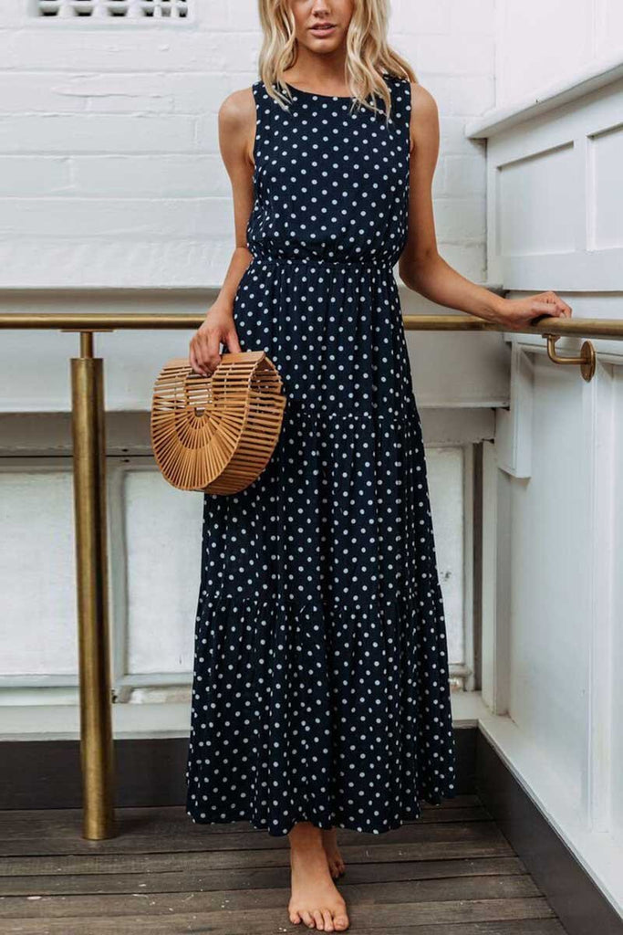Florcoo Polka Dot Sexy Dress