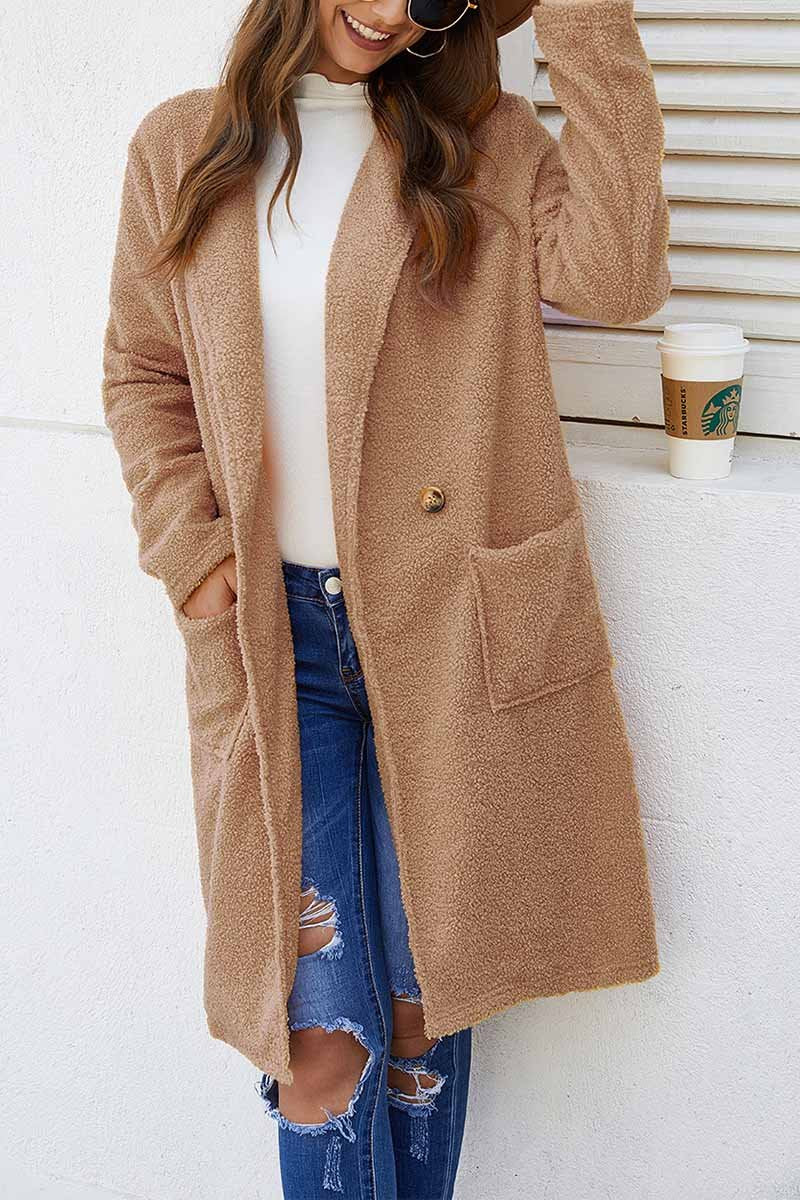 Florcoo Loose Solid Women's Coat