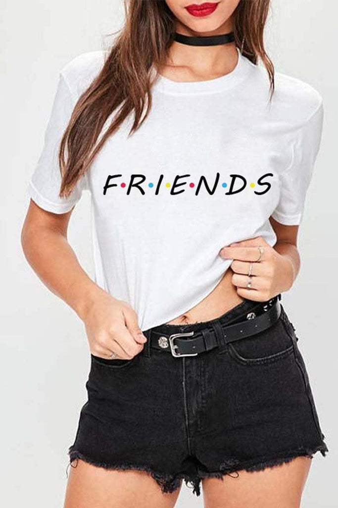 Florcoo colorful letters print T-shirt