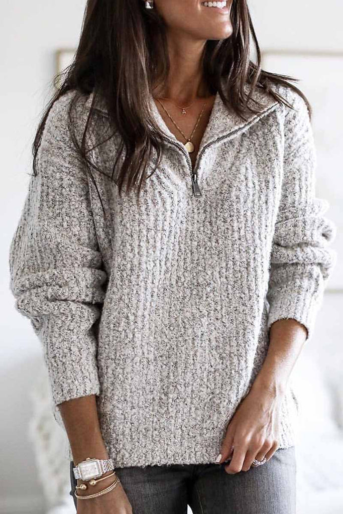 Florcoo Winter Soild Long Sleeve Sweater