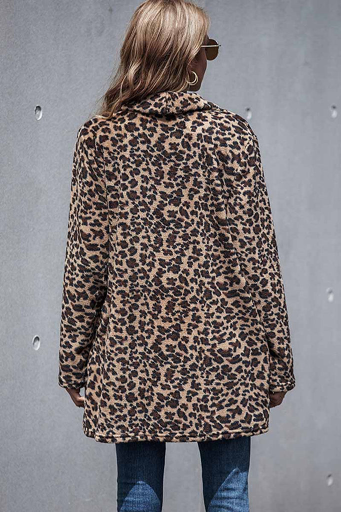 Florcoo Sexy Leopard Long Coat