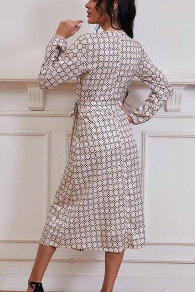 Florcoo Printed Long Sleeve Dresses