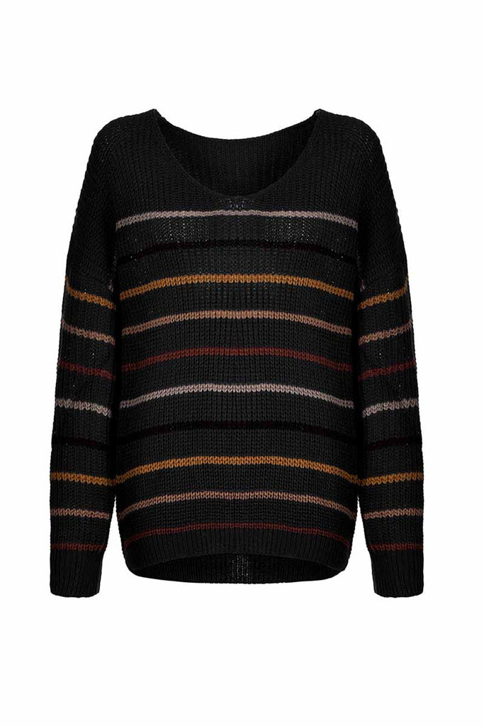 Florcoo Loose Striped Sweater
