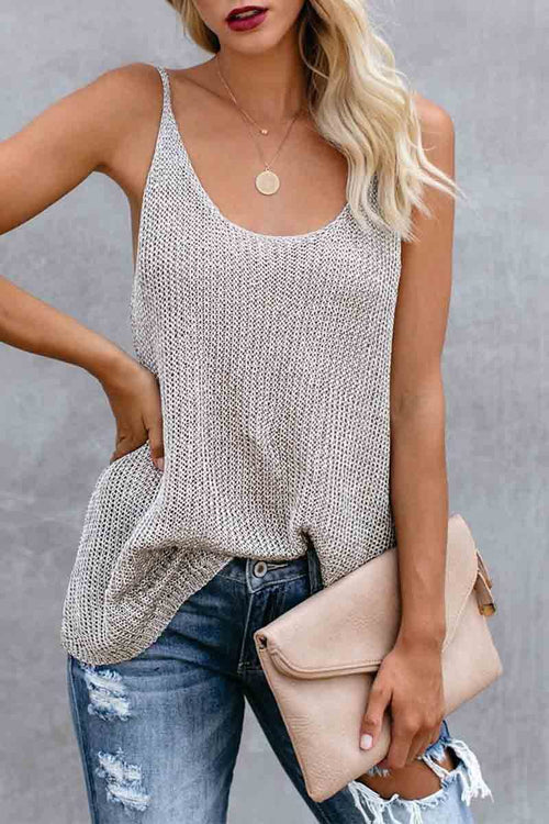 Florcoo Knitted Vest Top