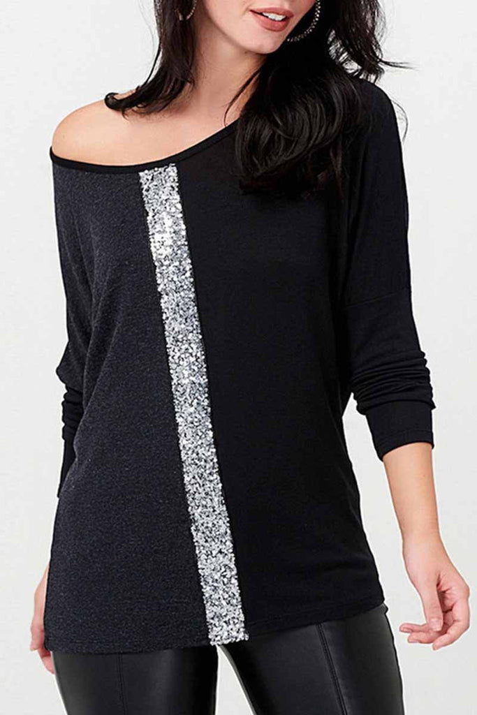 Florcoo Casual Sequins Tops