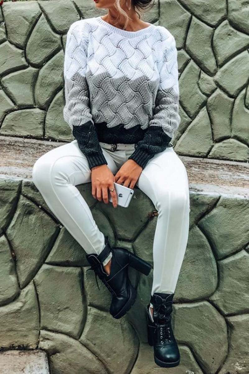 Florcoo O Neck Knit Sweaters
