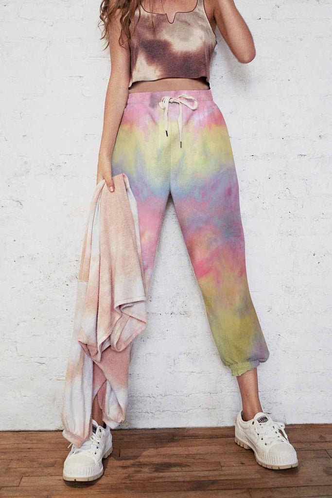 Florcoo Cotton Tie-dye Casual Trousers