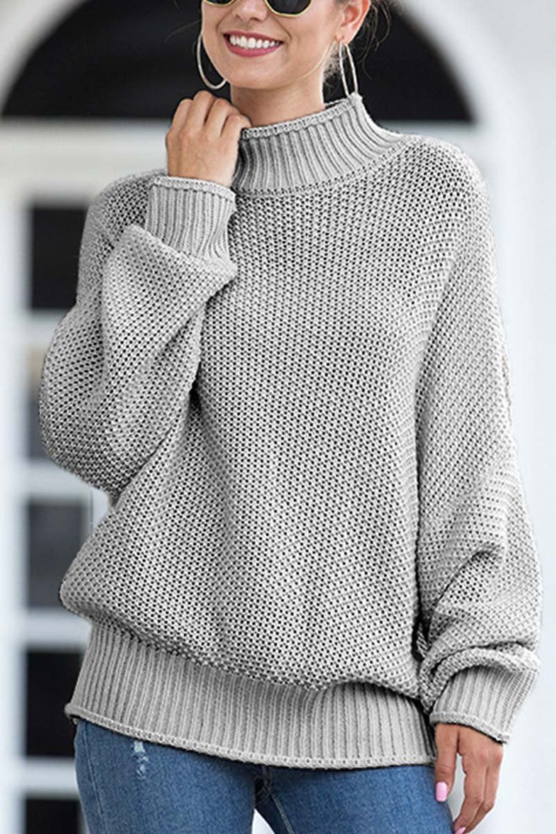 Florcoo Breathable Bat Sleeve Knit Sweater