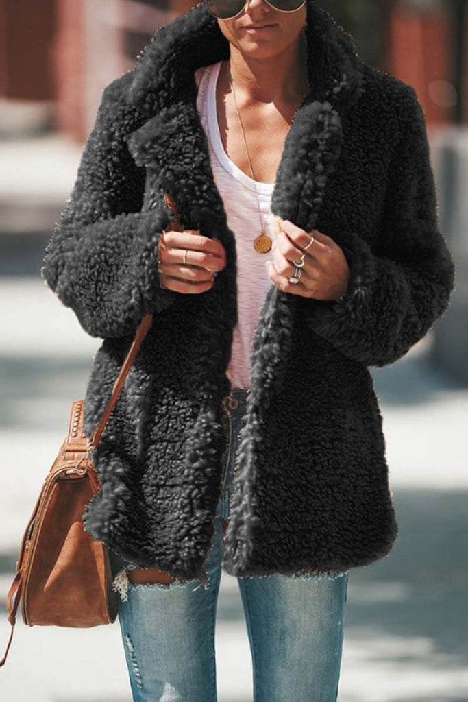 Florcoo Winter Plush Coat Cardigan