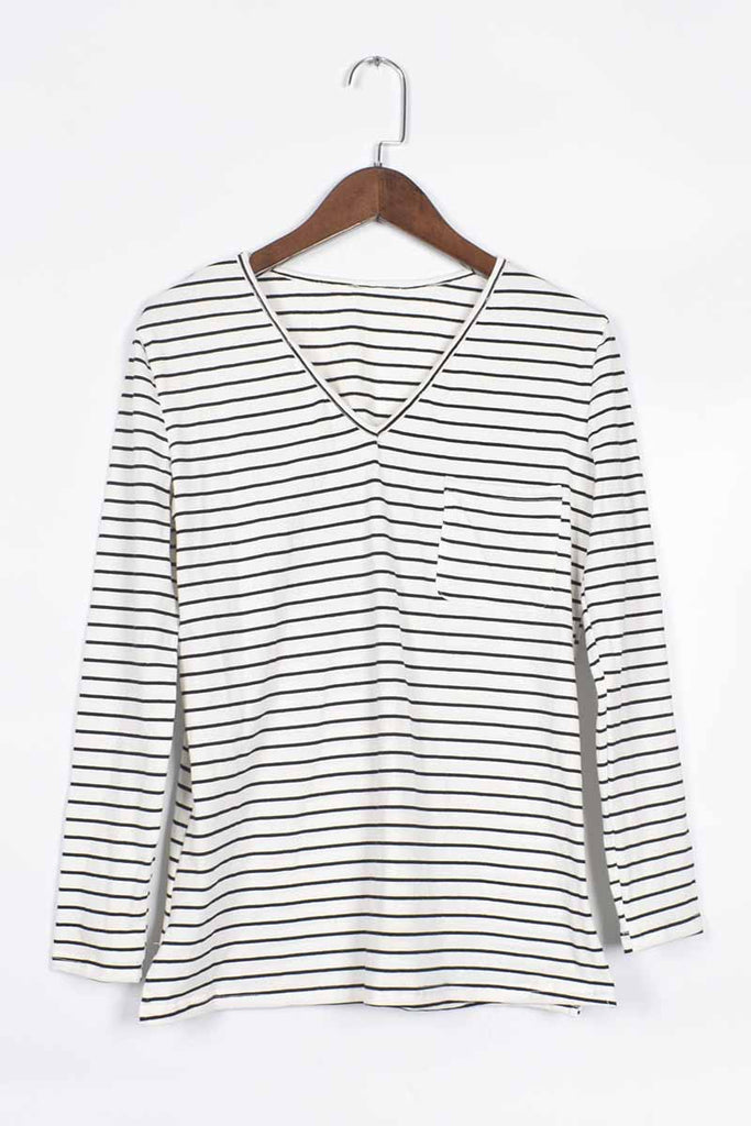 Florcoo Striped Long Sleeve Top