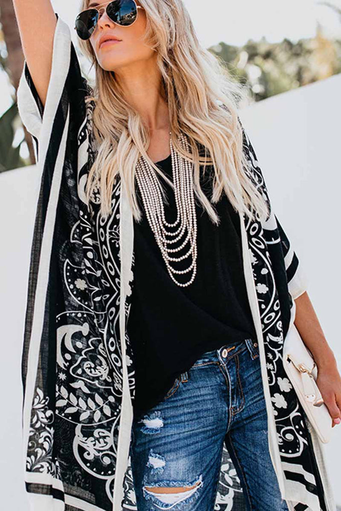 Florcoo Casual Loose Printed Long Blouse