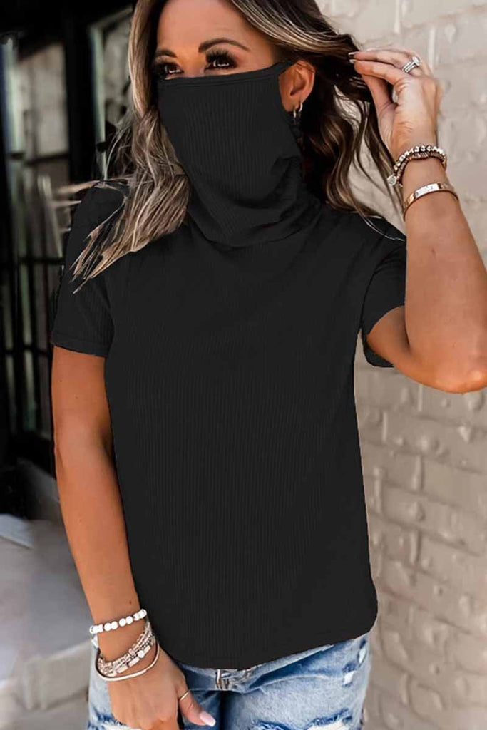Florcoo Pure Color Loose Pile Pile Tie Mask Tops