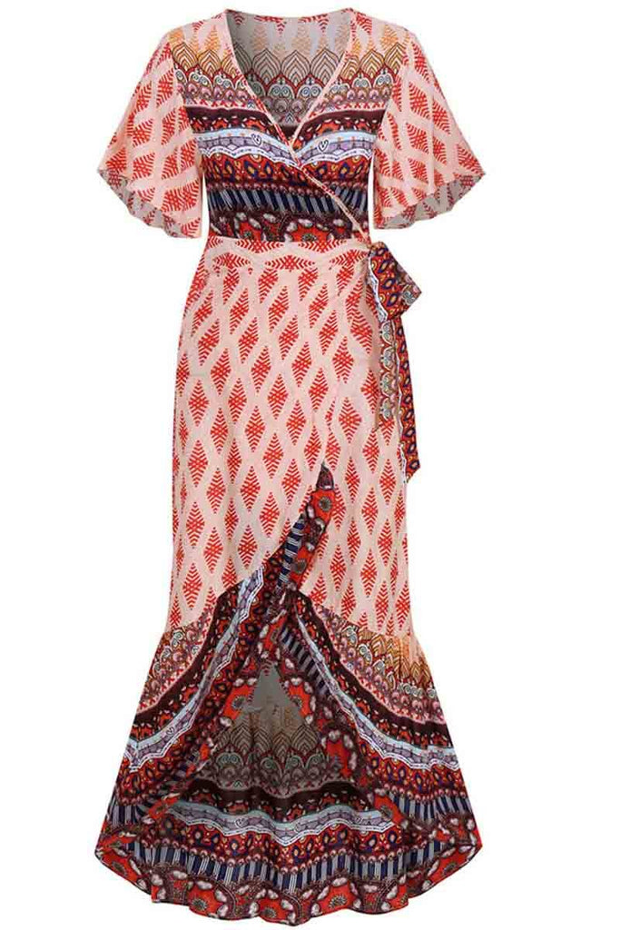 Florcoo Bohemian Printed Midi Dress(3 colors)