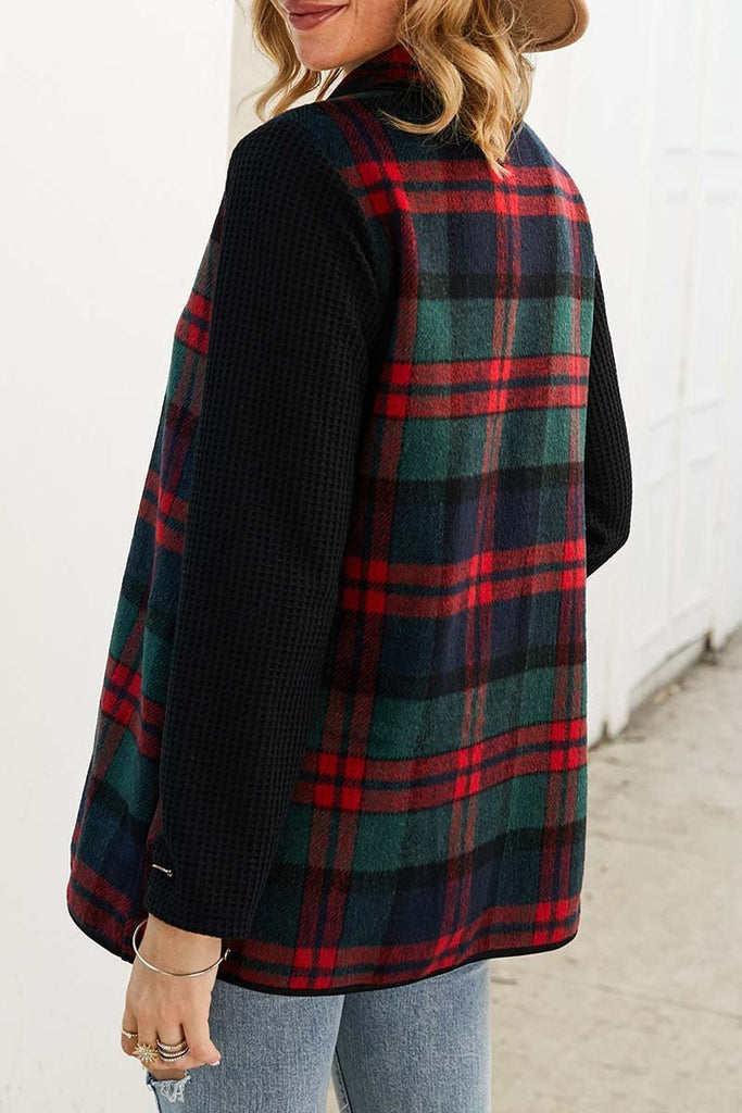 Florcoo OL Winter Street Style Plaid Coat