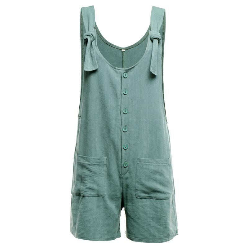 Florcoo Cotton Pocket Jumpsuit(3 colors)