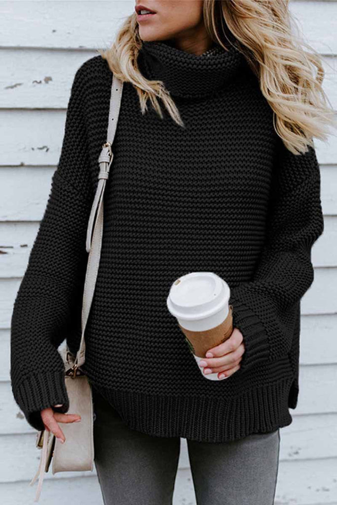 Florcoo New Loose Style Turtleneck Sweater