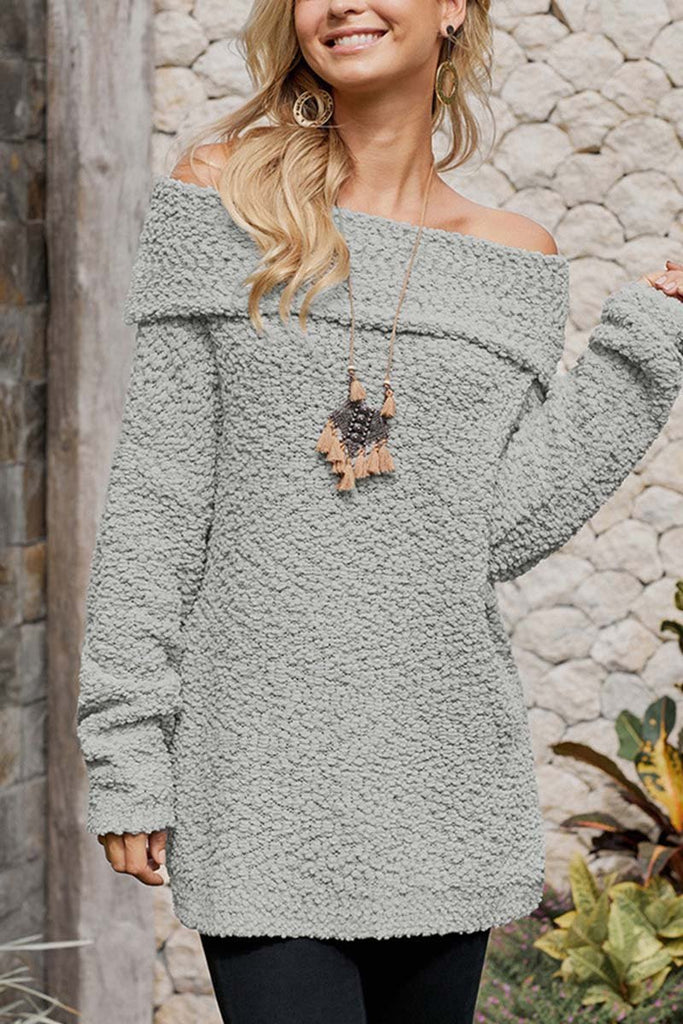 Florcoo Off Shoulder Sexy Sweaters