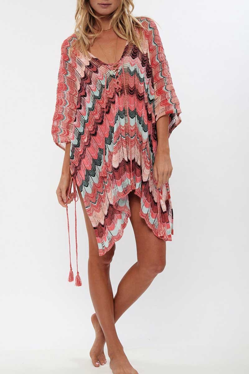 Florcoo Sexy Knitted Beach Swimwear Cover-up(2 colors)