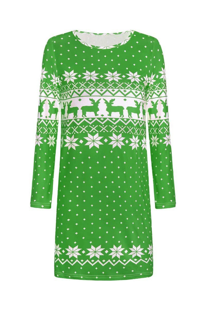 Florcoo 2019 Christmas Winter Dress