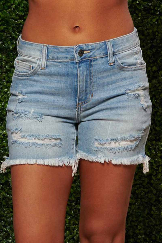 Florcoo On-trend Ripped Sexy Denim Shorts