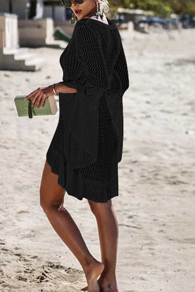 Florcoo Hollow Knitted Beach Cover-up(4 colors)