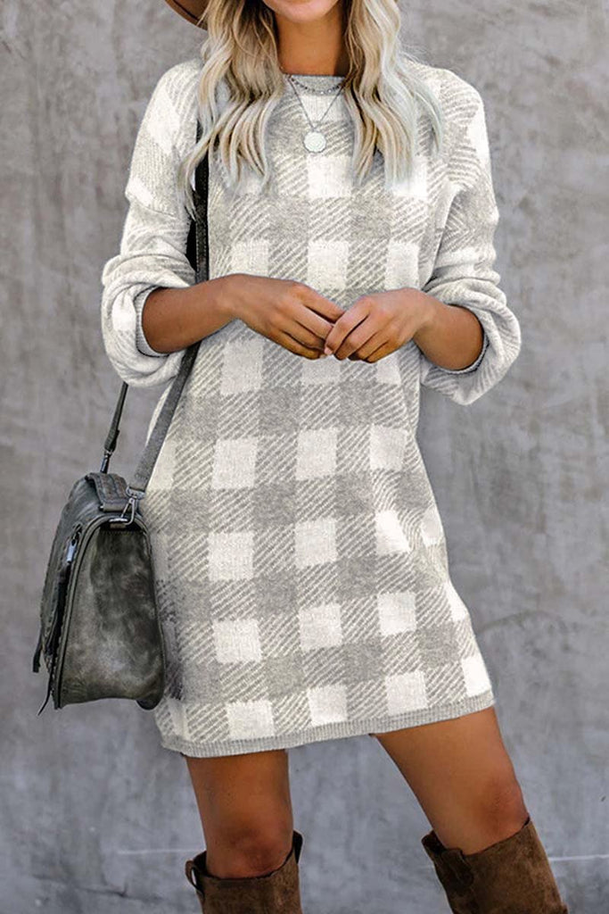 Florcoo Plaid Mini Dress