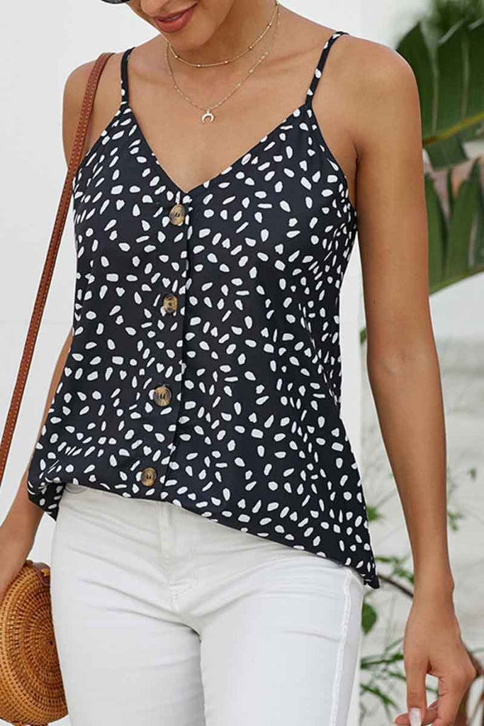 Florcoo V-neck Printed Tank top