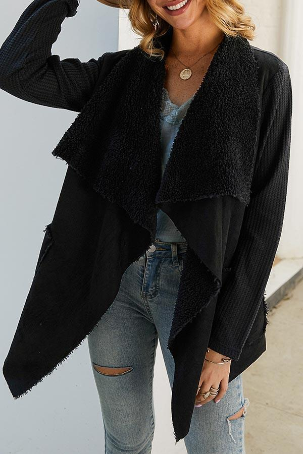 Plush Irregular Coat