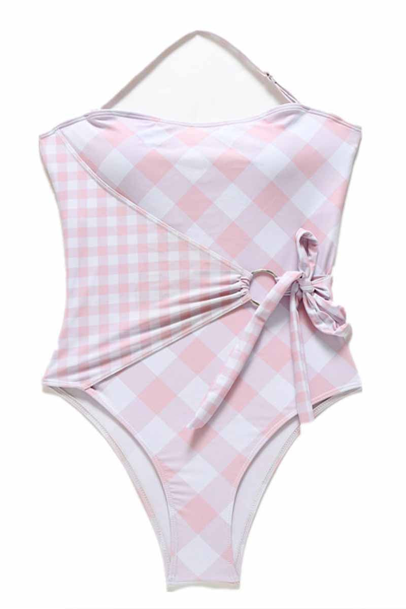Florcoo Pink One-piece Swimsuit