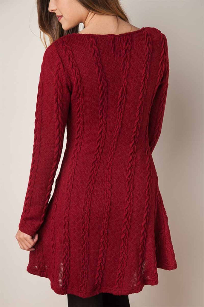 Florcoo Solid Color Mini Dress
