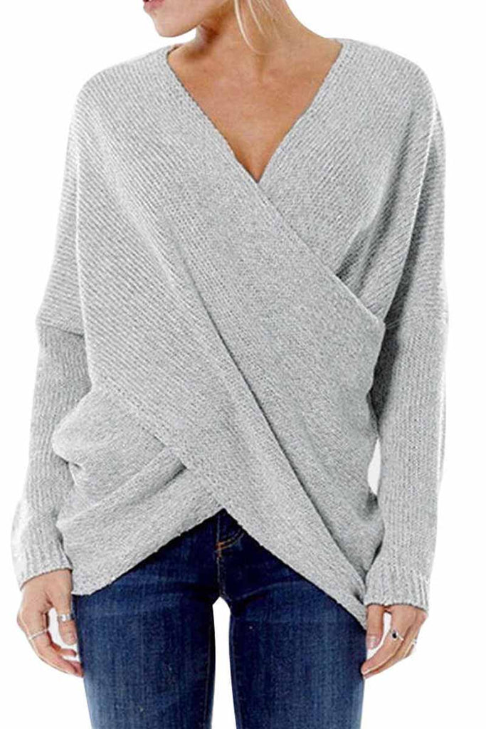 Florcoo Solid Loose Casual Sweater