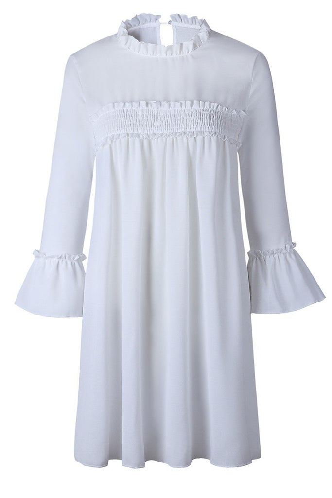 Florcoo Pleated Hem Chiffon Dress