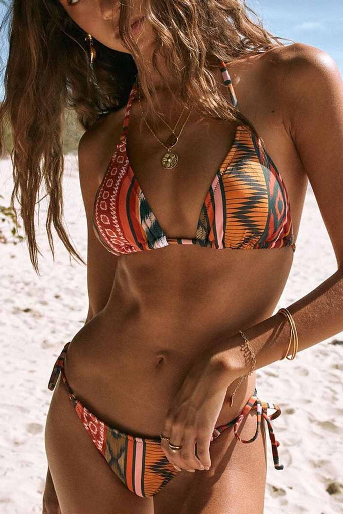 Florcoo Regular Striped Contrast Two-piece swimsuits