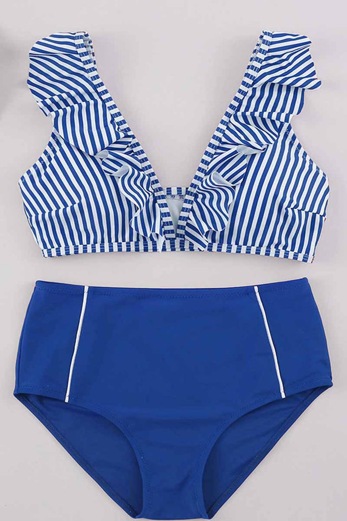 Florcoo Striped Two-piece Swimsuit