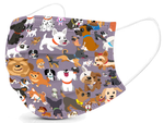 Basic Disposable 3 Ply Masks with Dog Pattern (Pack of 50)