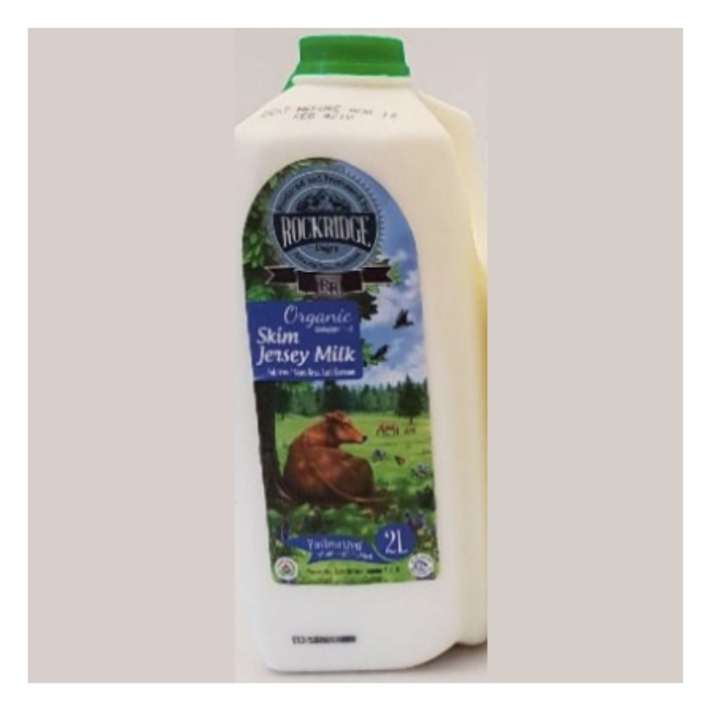 Load image into Gallery viewer, Organic Skim Milk | Organic Jersey 2 L Skim - Fresh Village Farms