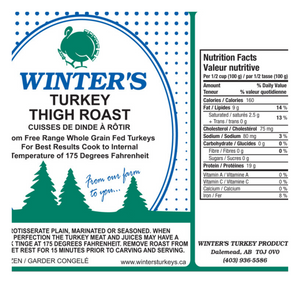 Organic Turkey Thigh | Boneless Skin-on Thigh - Fresh Village Farms
