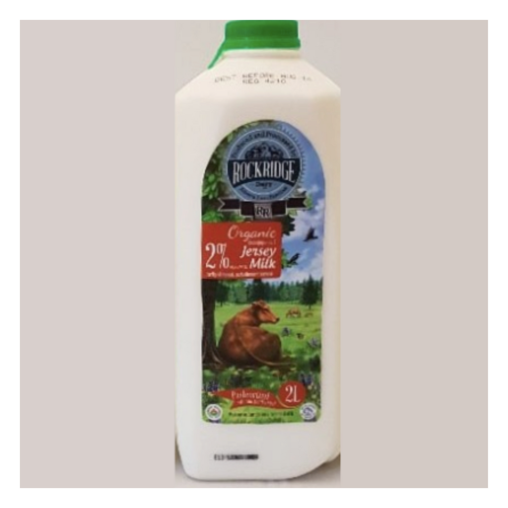 Organic 2% Milk | Organic Jersey 2 L 2% - Fresh Village Farms