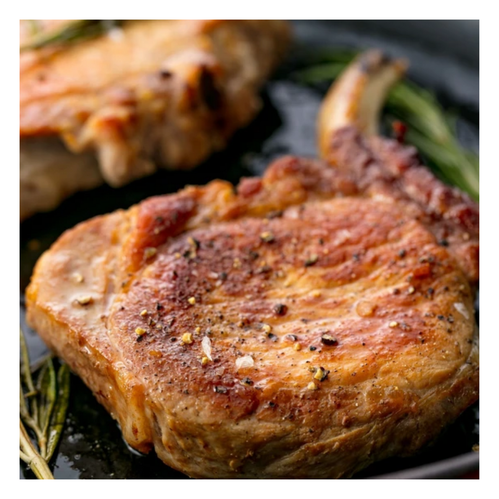 Organic Pork chops ( 2/ package) Approx 1 lb - Fresh Village Farms