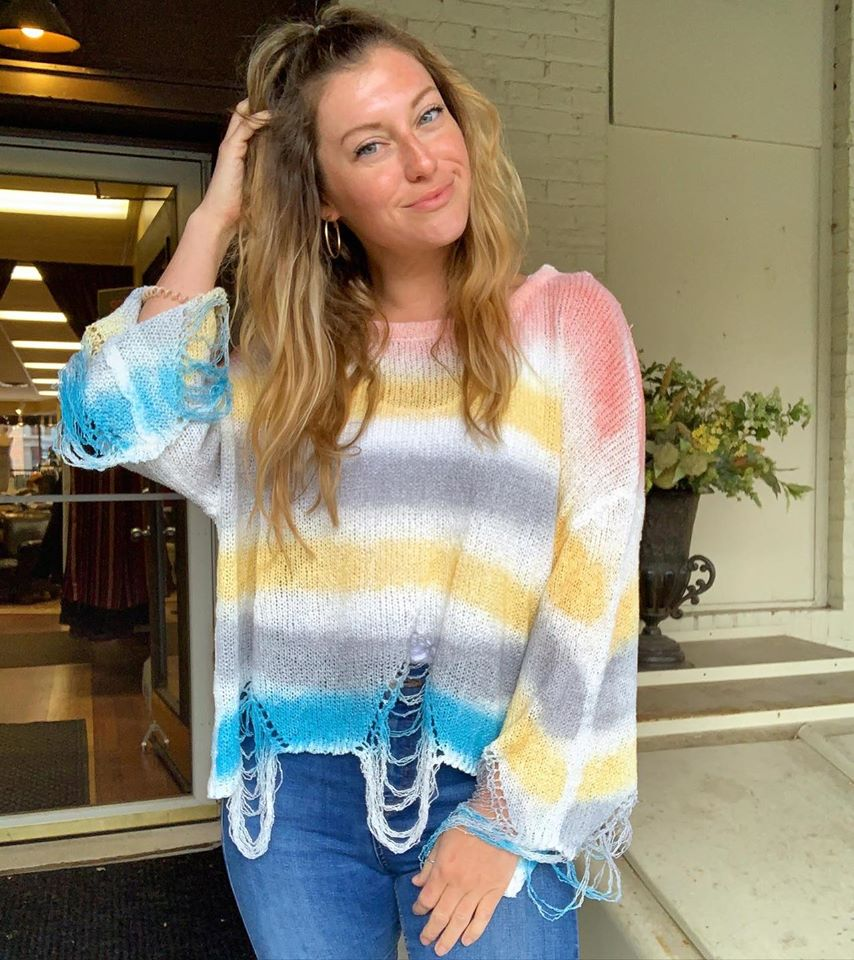Rainbow Sherbert Sweater