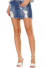 Load image into Gallery viewer, Distressed Denim Skirt