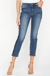 Mid Rise Straight Crop Jean